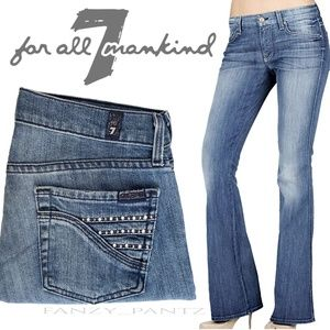 7FAM Flare jeans crystal pocket 26 x 34 mid-rise